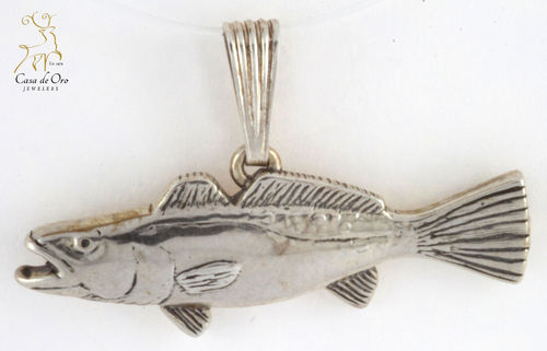 Sterling Silver Trout Pendant