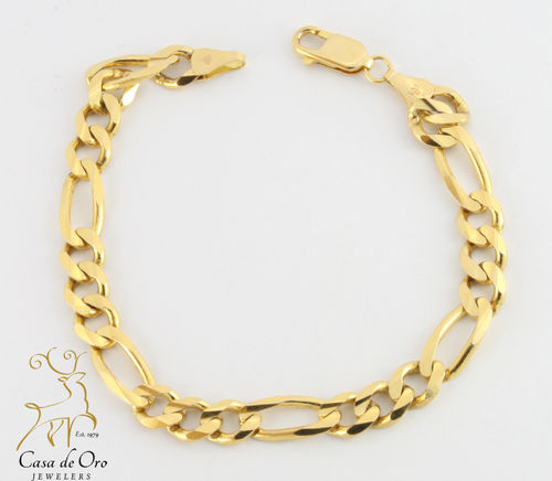 Men's Figaro Bracelet 14K Yellow