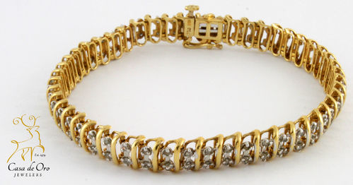 Diamond Bracelet 10K Yellow