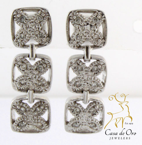 Diamond Earrings 14K White