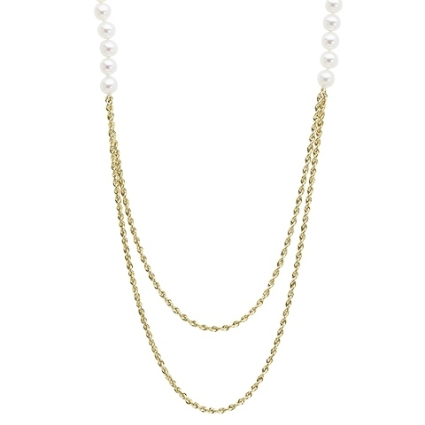 Honora Pearl Glitter Necklace 14KY