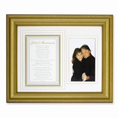 Gold Anniversary Poem and 8x10 Photo Frame