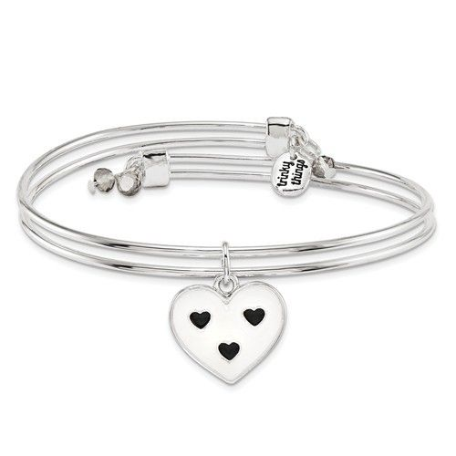 Black/White Heart Bridesmaid Bracelet