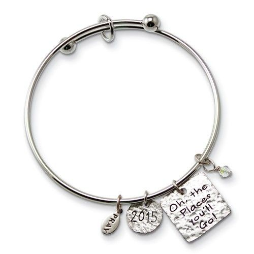 Places You'll Go Charm Graduation Bangle
