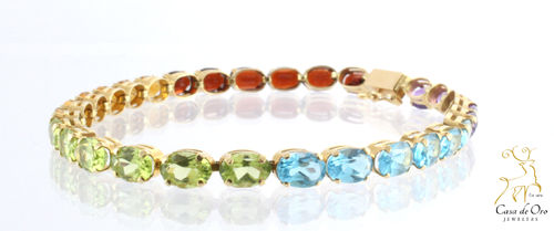 Multi-stone Bracelet 14K Yellow