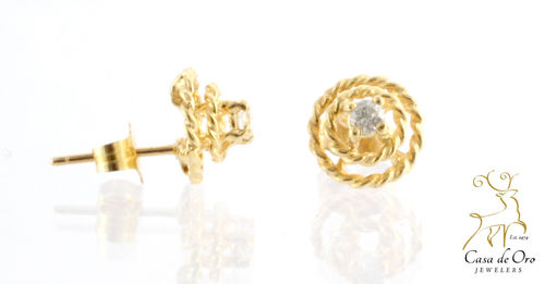 Diamond Earrings 14K Yellow