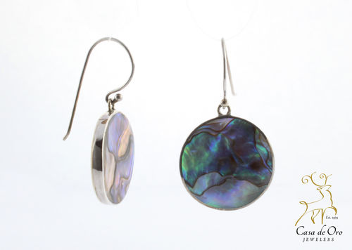 Abalone Earrings Sterling