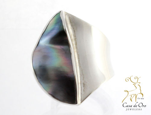Sterling Tahitian Pearl Ring