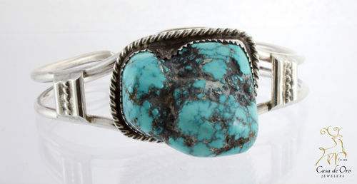 Turquoise Cuff Bracelet Sterling