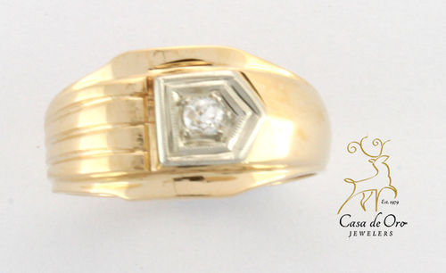 Diamond Men's Ring 14K Yellow