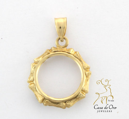 1/20 Panda Coin Bezel  14K Yellow