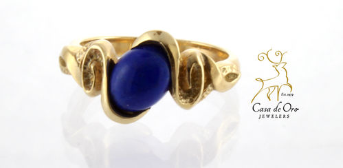 Lapis Ring 14K Yellow