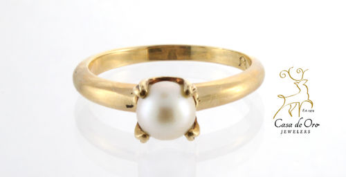 Pearl Ring 10K Yellow