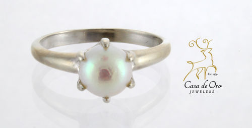 Pearl Ring 14K White