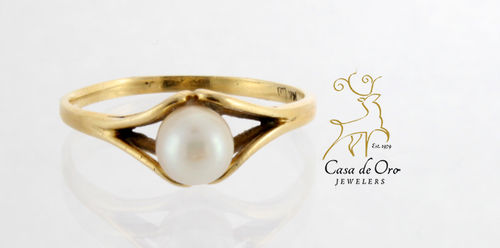 Pearl Ring 14K Yellow