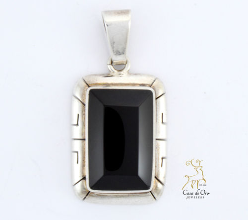 Black Onyx Pendant Sterling Silver