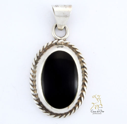 Black Onyx Sterling Pendant