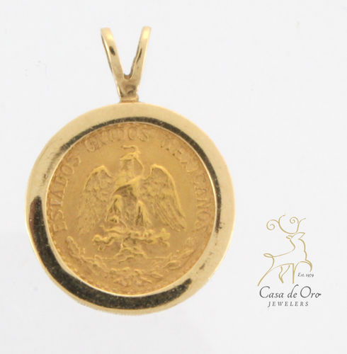 Gold 2 Peso Pendant (Price +Coin) 14KY