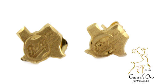 "Gold ""Texas Ranger"" Earrings 14K Yellow"