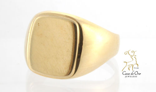 Men's Signet Ring 14K Yellow