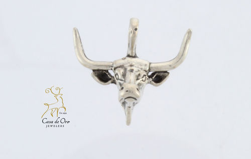 Sterling Silver Longhorn Charm