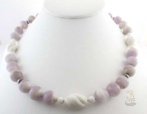 Flourite & Magnesite Necklace