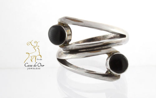 Black Onyx Ring Sterling Silver