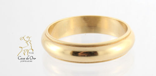 Gold Wedding Band 14K Yellow