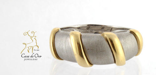 Gold Band 14K Two Tone