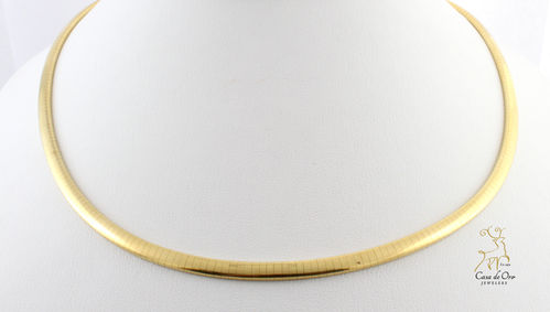 Gold Omega Necklace 10K Yellow