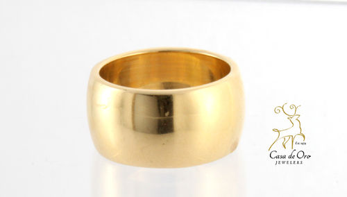 Gold Half Round Band 14K Yellow