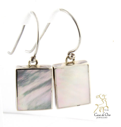 Mother of Pearl Earrings Sterling