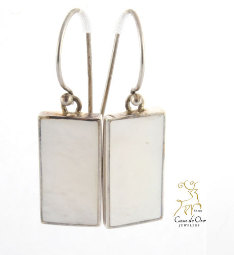 Mother of Pearl Earrings Sterling Silver