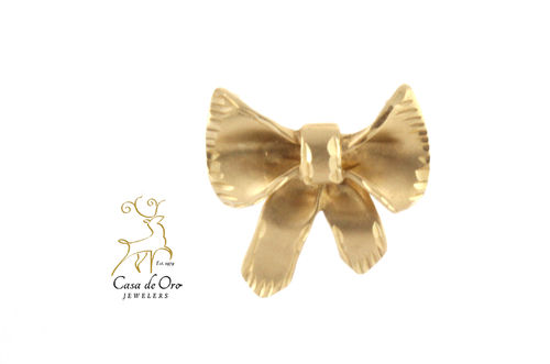 Diamond Cut Bow Enhancer 14K Yellow