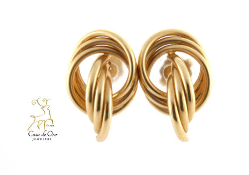 Gold Knot Earrings 14K Yellow