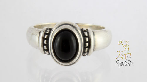 James Avery Sterling Black Onyx Ring