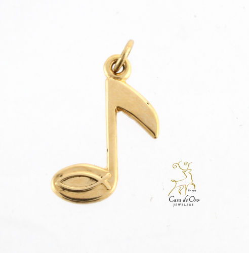 James Avery Music Note Charm 14KY