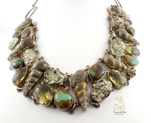 Multi Mineral & Fossil Necklace
