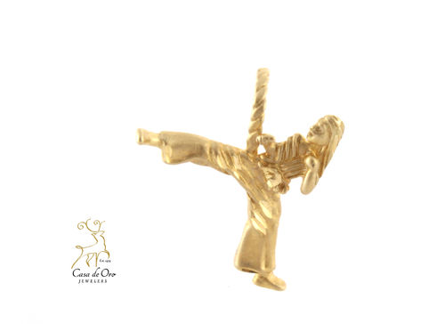Gold Female Karate Charm 14K
