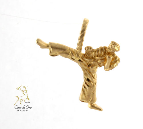 Gold Male Karate Charm 14K
