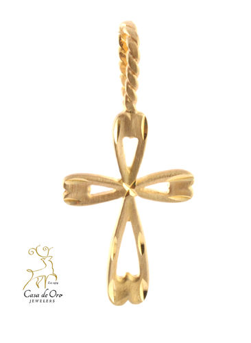 Gold Cross Pendant 14K Yellow