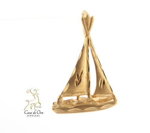 Sailboat Pendant 14K Yellow