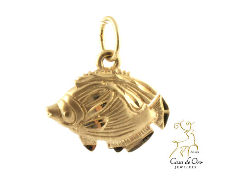 """Fish"" Charm 14K Yellow"