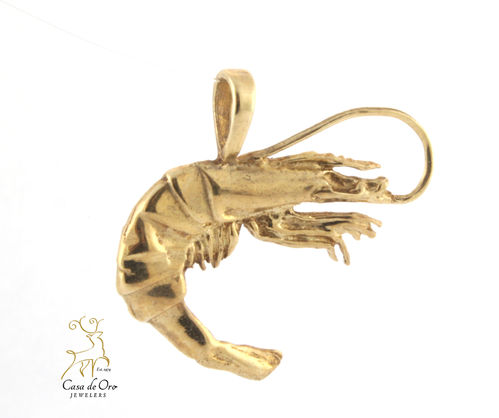 Shrimp Pendant 14K Yellow