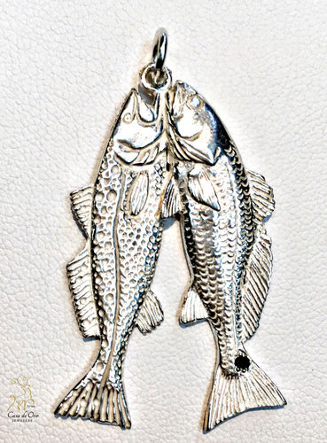 Sterling Silver Redfish,Trout Pendant