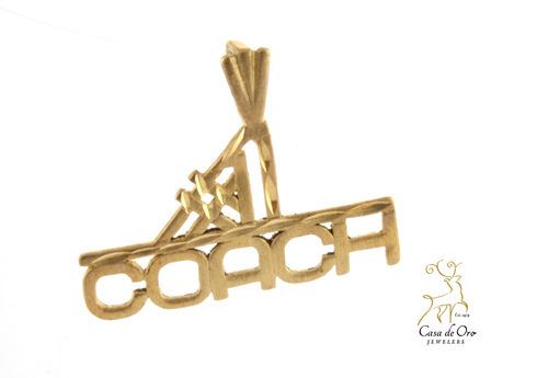 """#1 Coach"" Pendant 14K Yellow"