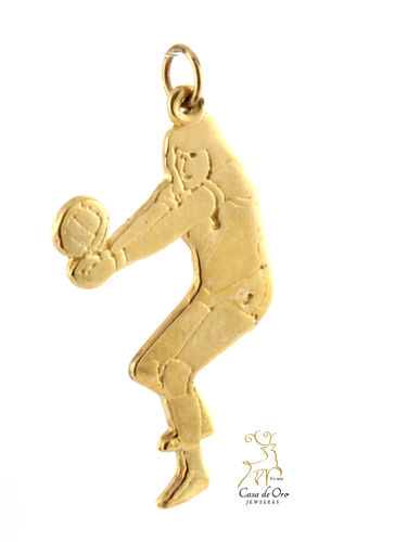 Volleyball Player Pendant 14KY