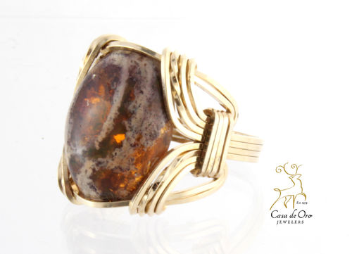 Opal Ring 10K Yellow