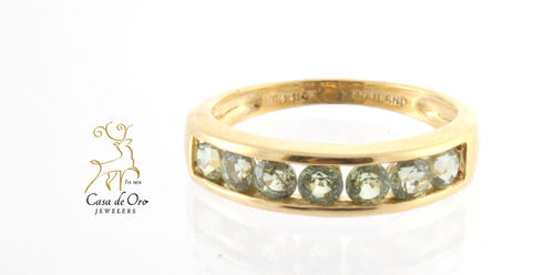 Green Topaz Ring 14K Yellow
