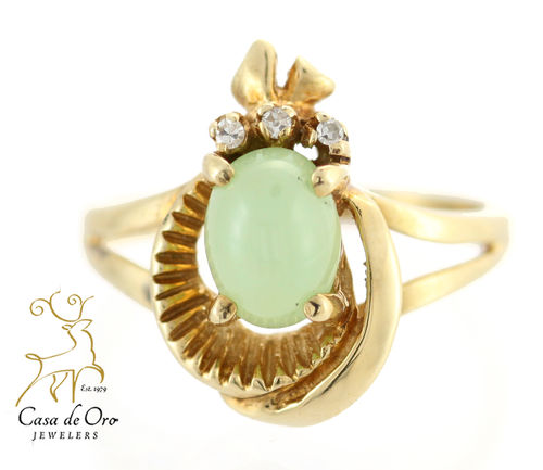Cat's Eye Chrysoberyl 14KY Ring